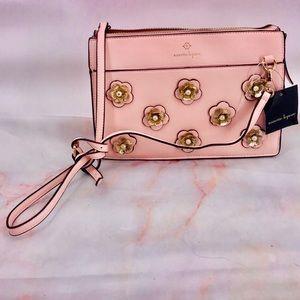 NWT Nanette Lepore pink floral flower purse